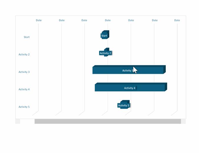 Gantt project chart