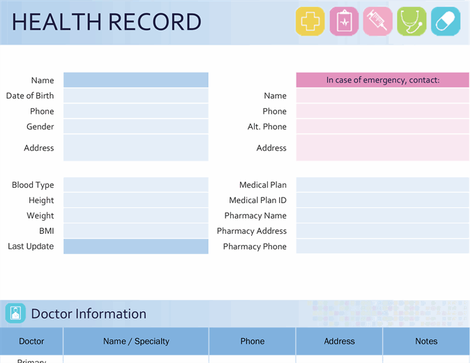 My family's health record