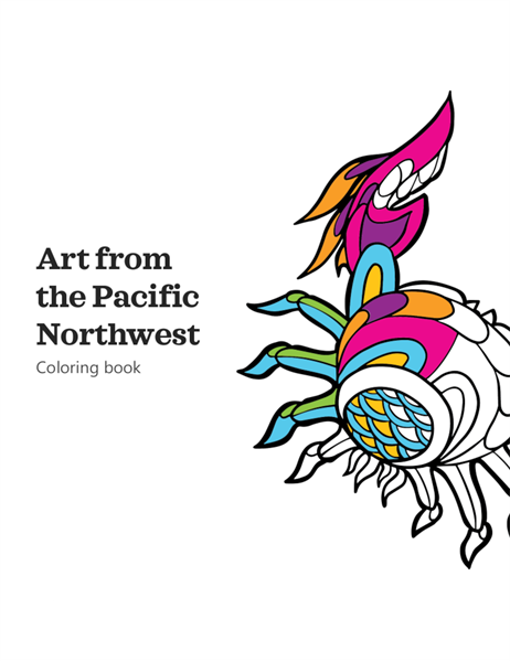 Art from the Pacific Northwest coloring book