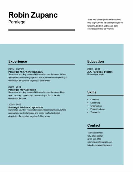 Impact resume