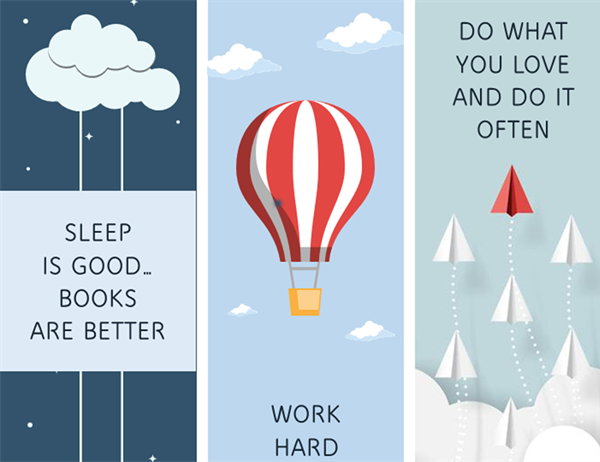 Motivational bookmarks