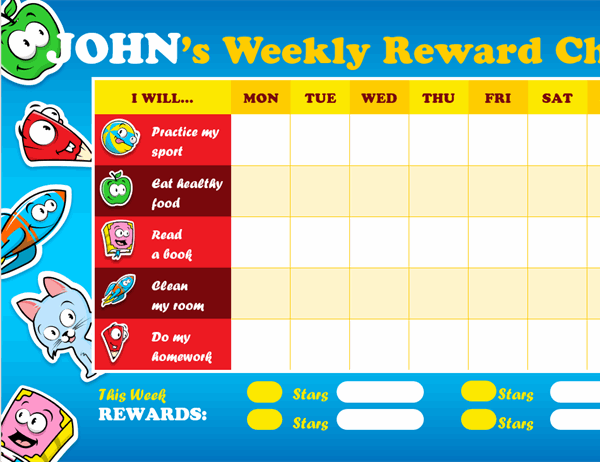 Kid's reward chart