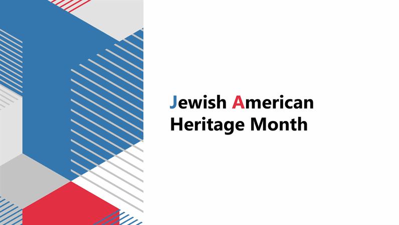Jewish American Heritage Month presentation