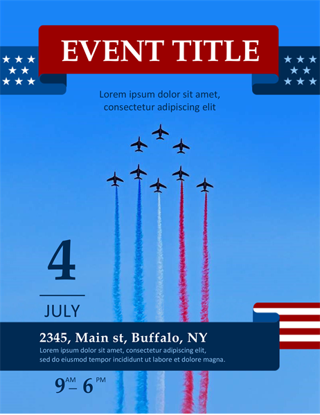 Flyover Fourth of July flyer