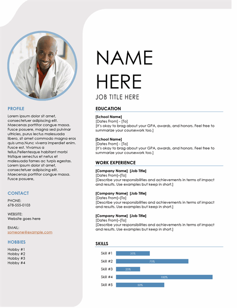 Blue grey resume