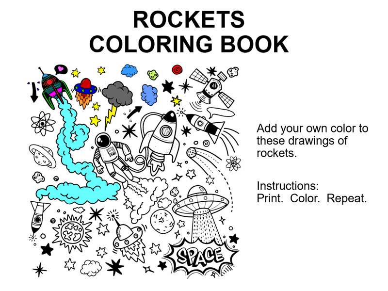 Rockets coloring book