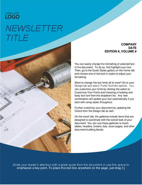 Handy-person newsletter