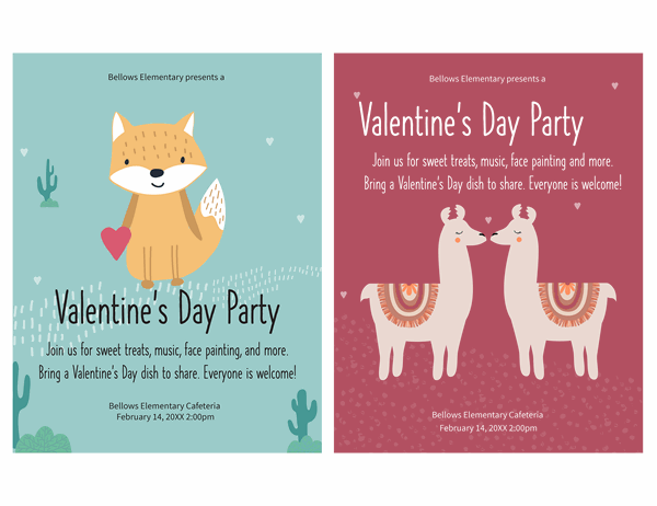Children's Valentine's Day flyer