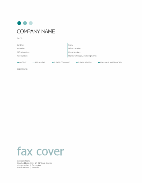 Fax cover sheet (Dots design)