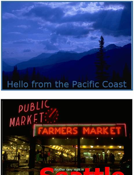 Postcards (Pacific Northwest design, 2 per page)