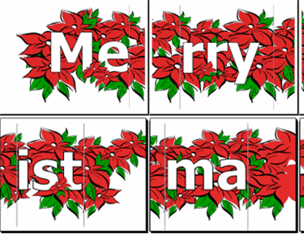 Merry Christmas banner (with poinsettia)