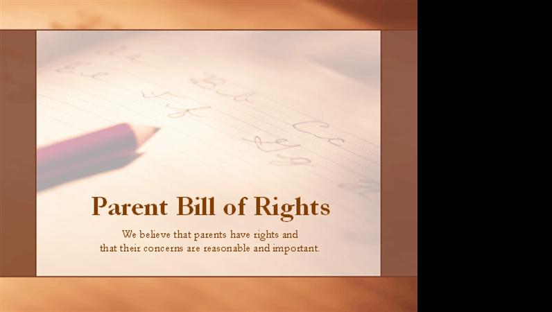 Parent Bill of Rights presentation