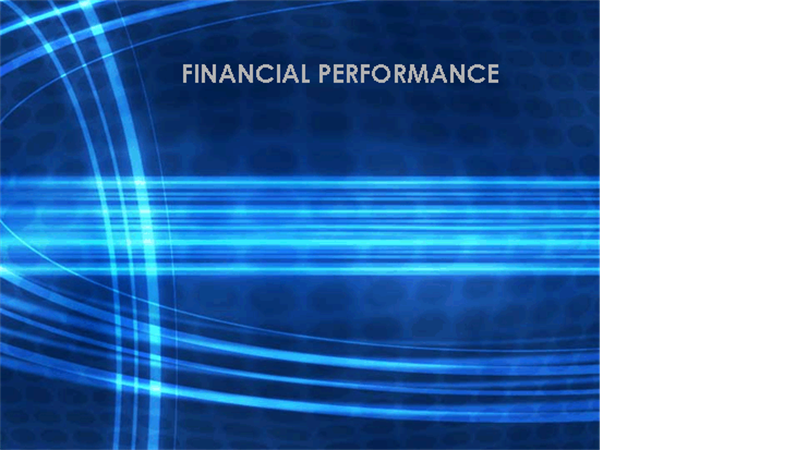Business financial report