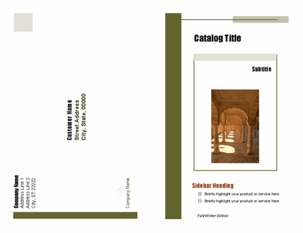 Product catalog and order form (8 pages)