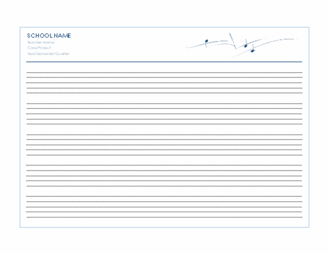 Music staff paper (5 per page)