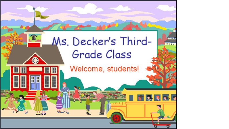 Back-to-school presentation