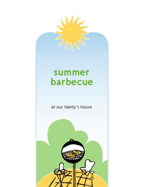 BBQ invitation card (half-fold, A9 size)