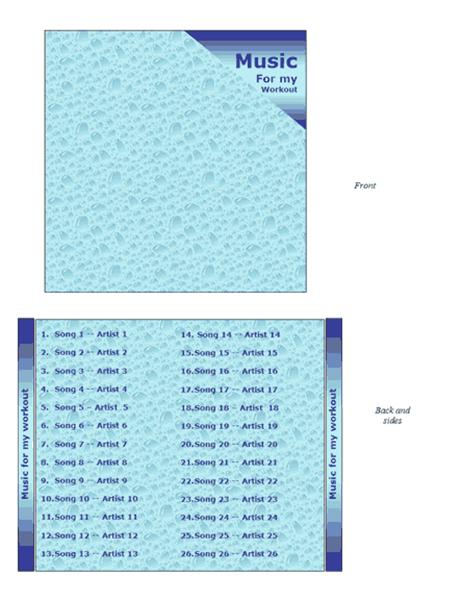 CD jewel case insert (water design)