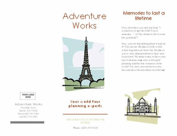 Travel brochure (4-fold)