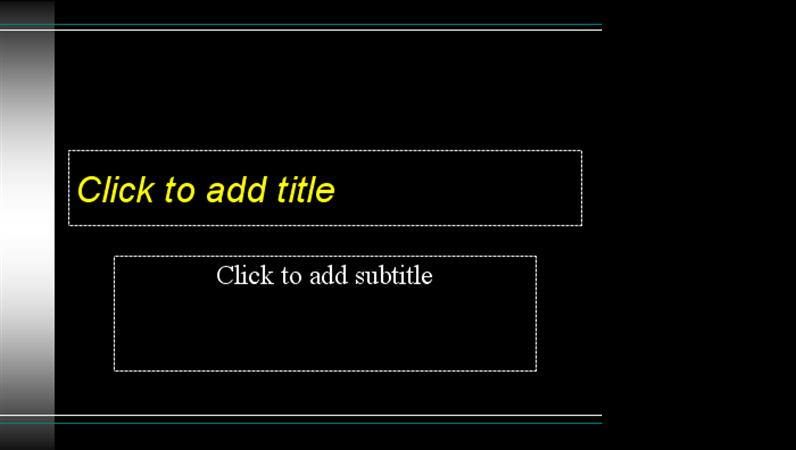 Black design slides