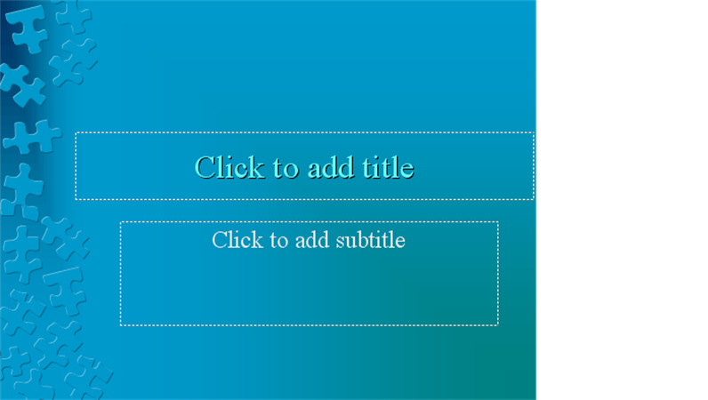 Blue jigsaw design slide