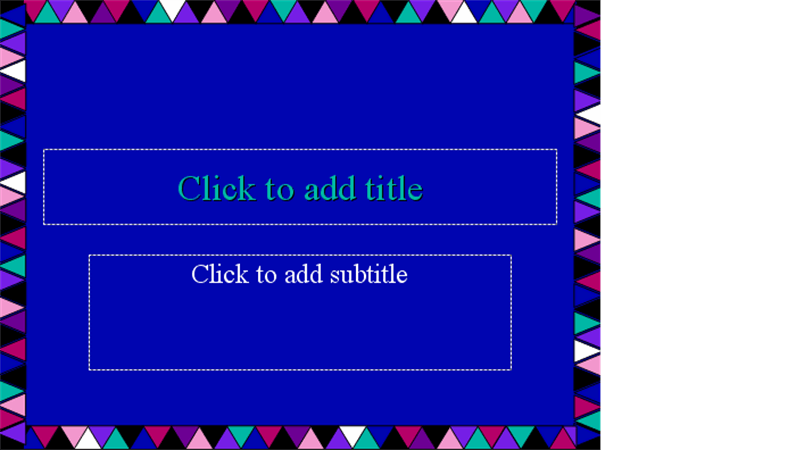 Patchwork design slides