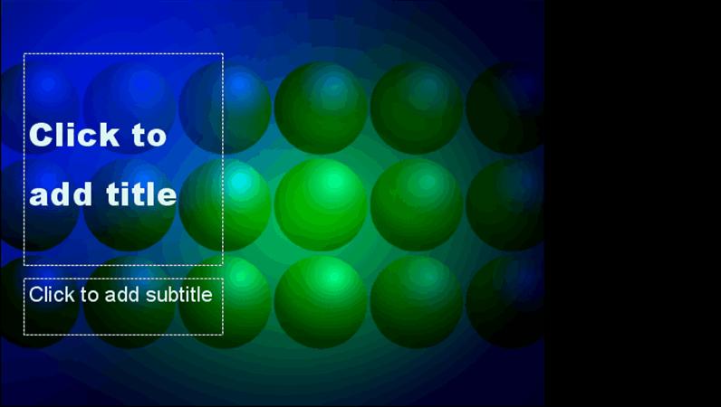 Blue and green balls design template