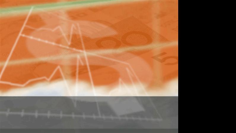 Orange currency design slides