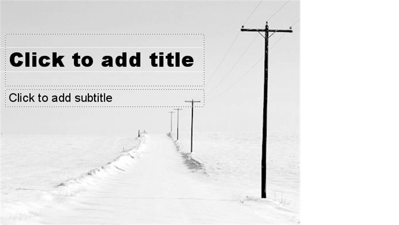 Snowy road design slides