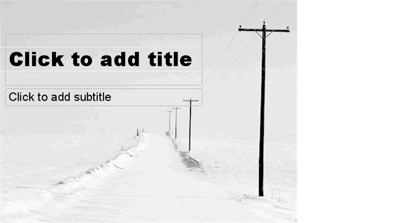 Snowy road design slides