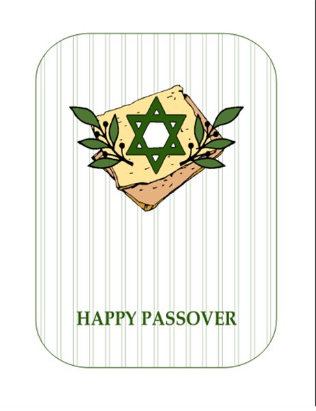 Passover card (with Star of David, quarter-fold, A2 size)