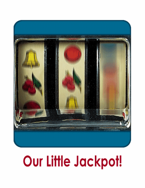 Birth announcement with photo (Jackpot design, quarter-fold, A2 size)