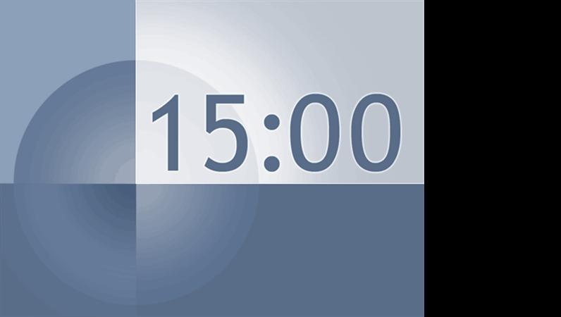 15 minute timer slide