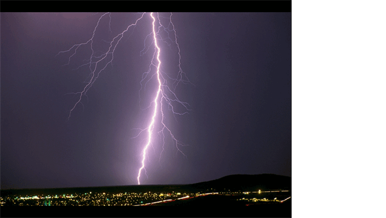 Lightning strike image slide
