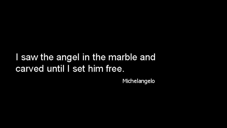 Michelangelo quote slide