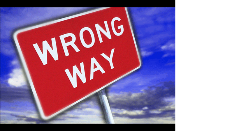 Wrong way image slide