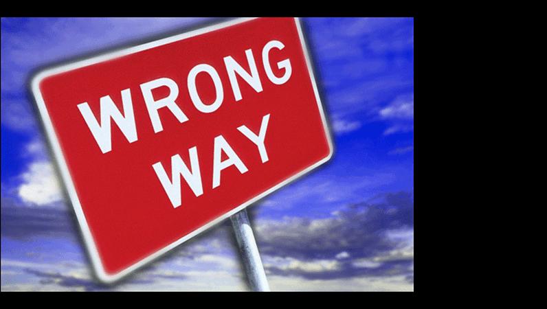 Wrong way image slide