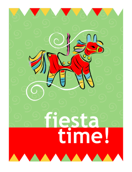 Cinco de Mayo party invitation (quarter-fold, A2 size)