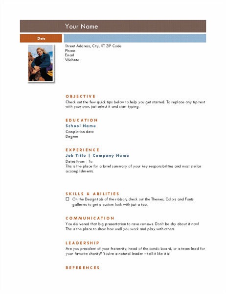 Photo resume (Median theme)