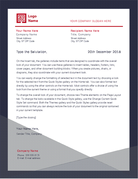 Business letter (Apothecary design)