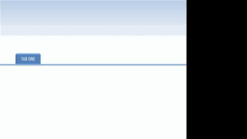 Animated tab for presentation slides
