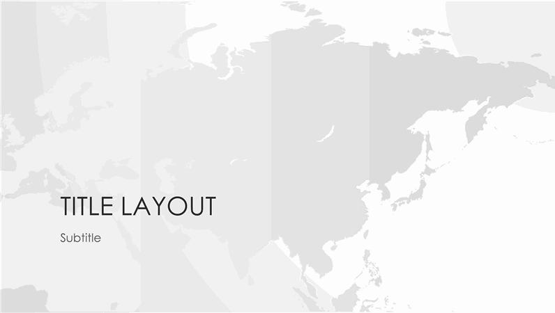 World maps series, Asian continent presentation (widescreen)