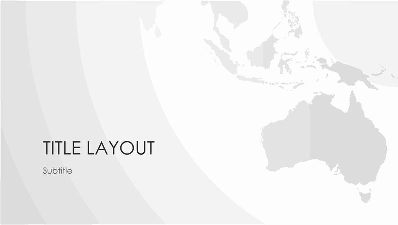 World maps series, Australian continent presentation (widescreen)