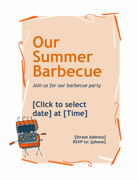 BBQ invitation flyer