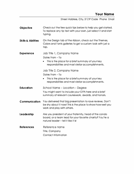 Functional resume (Minimalist design)