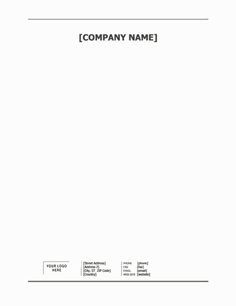 Business letterhead stationery (Simple design)