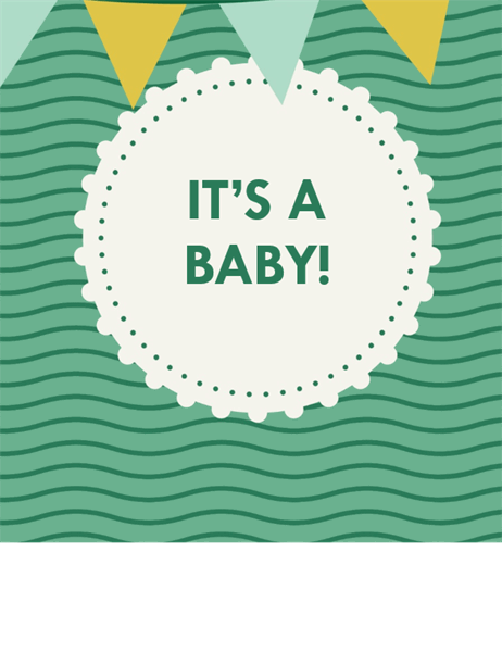 Baby Shower Invitation With Rsvp