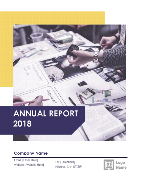 Annual report (Red and Black design)
