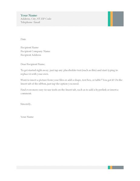 Business letter (Sales Stripes design)