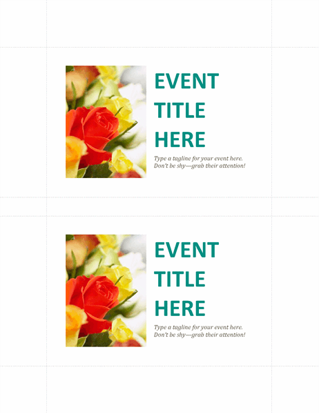 Business event postcards (2 per page)
